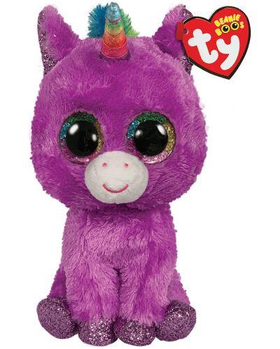 Jucarie de plus TY Toys Beanie Boos - Unicorn Rosette, 15 cm - 1