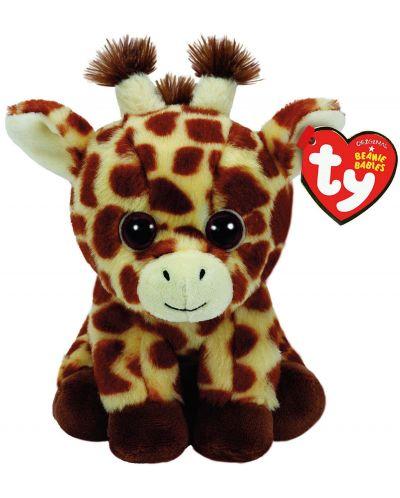 Jucarie de plus TY Toys Beanie Babies - Girafa Peaches, 15 cm - 1