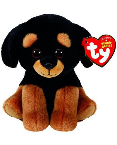 Jucarie de plus TY Toys Beanie Babies - Rottweiler Trevour, 15 cm - 1