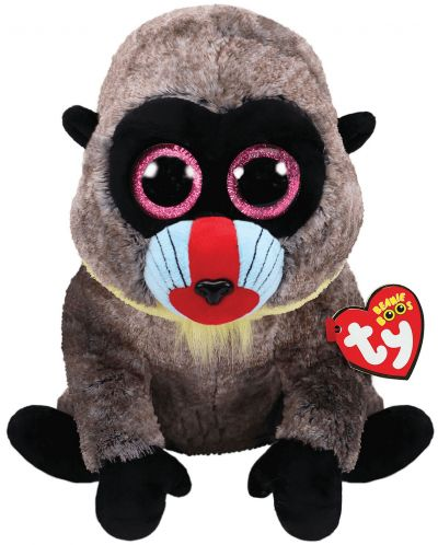 Jucarie de plus TY Toys Beanie Boos - Maimutica Wasabi, 15 cm - 1