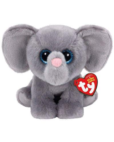 Jucarie de plus TY Toys Beanie Babies - Elefant  Whopper, 15 cm - 1
