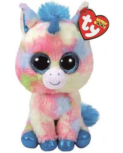 Jucarie de plus TY Toys Beanie Boos - Unicorn Blitz, 15 cm - 1