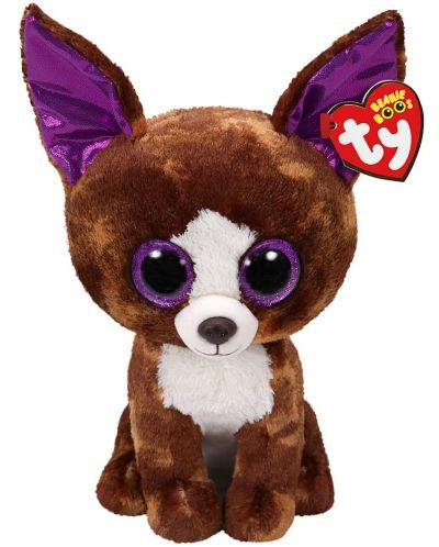 Jucarie de plus TY Toys Beanie Boos - Chihuahua Dexter, 15 cm - 1