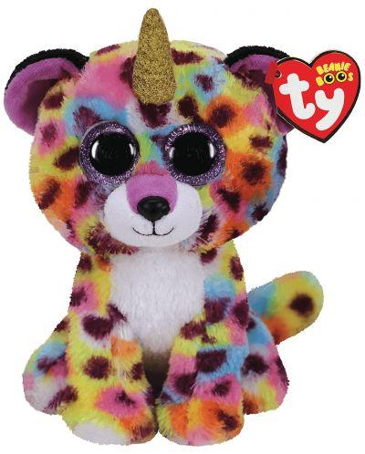 Jucarie de plus TY Toys Beanie Boos - Leopard cu corn Giselle, 15 cm - 1