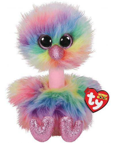 Jucarie de plus TY Toys Beanie Boos - Strut Asha, colorat, 15 cm - 1