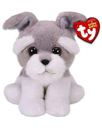 Jucarie de plus TY Toys Beanie Babies - Catelus Nagreg, gri, 15 cm  - 1