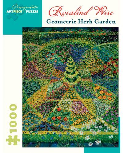 Puzzle Pomegranate de 1000 piese - Gradina geometrica cu plante, Rosalind Wise - 1