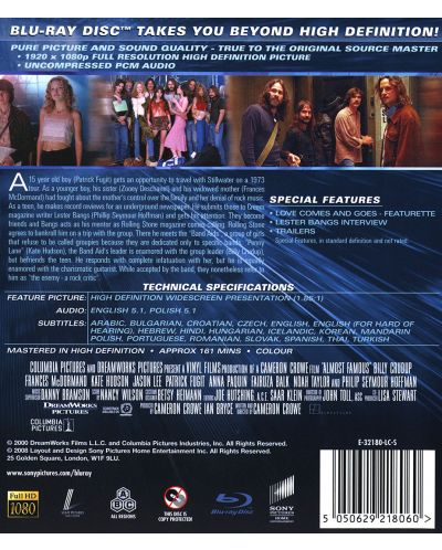 Almost Famous (Blu-ray) - 2