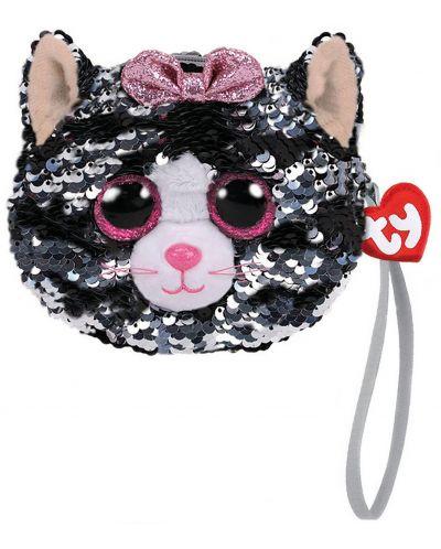 Portofel cu paiete TY Toys - Pisica Kiki, 10 cm - 1