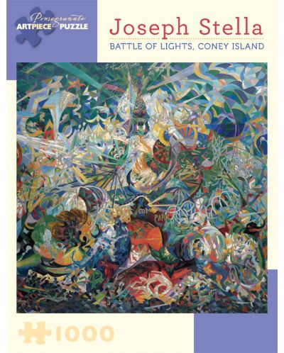 Puzzle Pomegranate de 1000 piese - Lupta luminilor,  Joseph Stella - 1