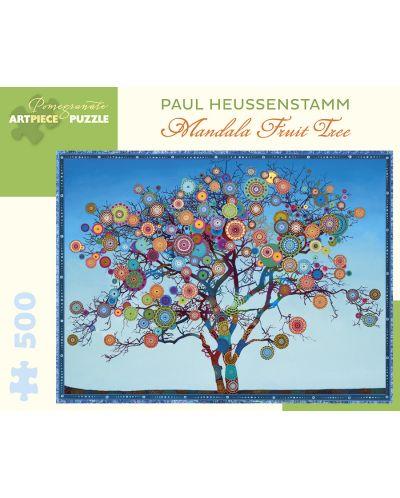 Puzzle Pomegranate de 500 piese - Fructe Mandala, Paul Heussenstamm - 1