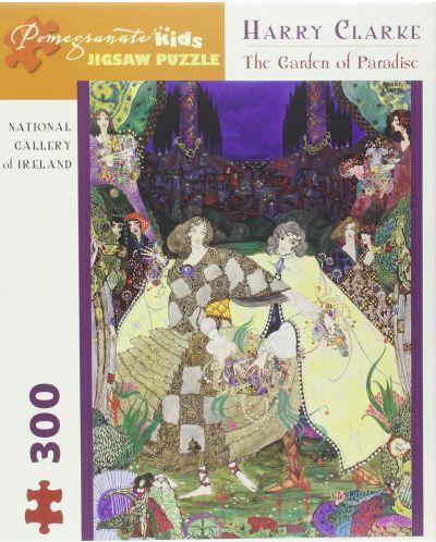 Puzzle Pomegranate de 300 piese - Gradina Paradisului, Harry Clarke - 1