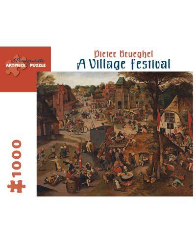 Puzzle Pomegranate de 1000 piese - Festival la tara, Pieter Brueghel - 1