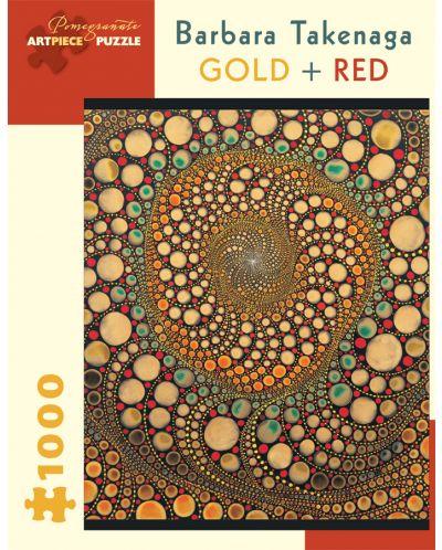Puzzle Pomegranate de 1000 piese - Auriu si rosu, Barbara Takenaga - 1