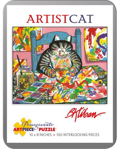 Puzzle Pomegranate de 100 piese - Pisica pictor, Bernard Kliban - 1