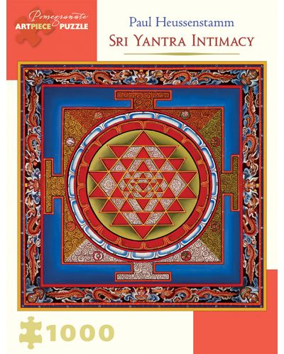 Puzzle Pomegranate de 1000 piese - Intimitatea Sri Yantra, Paul Heussenstamm - 1