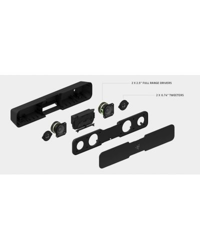 Soundbar Razer Leviathan, 5.1, negru - 12
