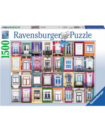 Puzzle  Ravensburger de 1500 piese - Fatada in Portugalia - 1