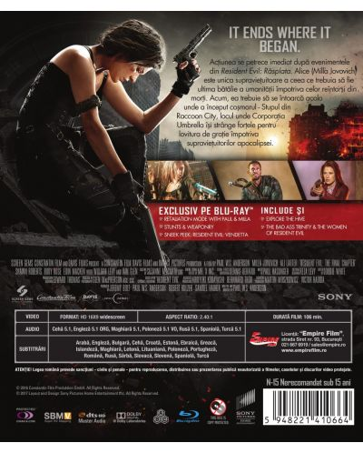 Resident Evil: The Final Chapter (Blu-ray) - 3