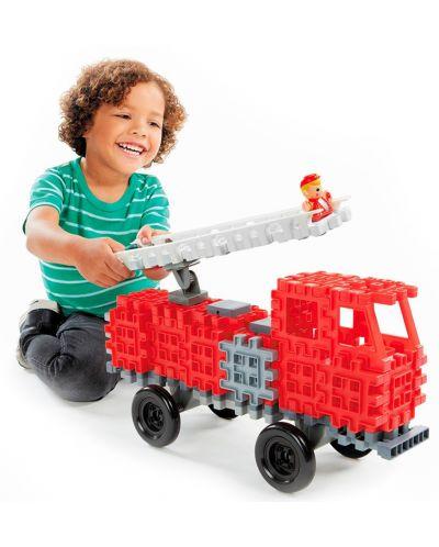 Constructor Little Tikes Waffle Blocks - Masina de pompieri - 4