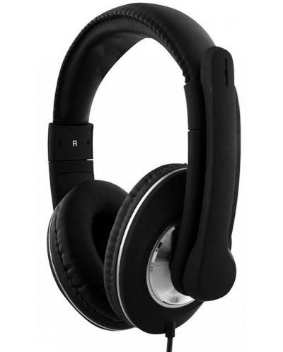 Casti cu microfon TNB - HS500, USB, negre - 3
