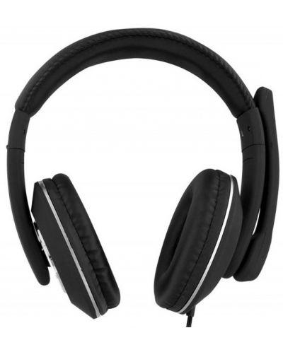 Casti cu microfon TNB - HS500, USB, negre - 2