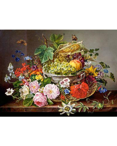 Puzzle Castorland de 2000 piese - Natura statica ciu fructe si flori - 2