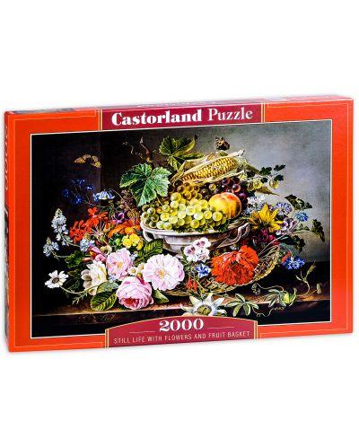 Puzzle Castorland de 2000 piese - Natura statica ciu fructe si flori - 1