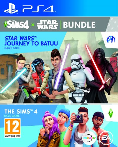 The Sims 4 + Star Wars - Journey to Batuu Expansion Pack Bundle (PS4)	 - 1