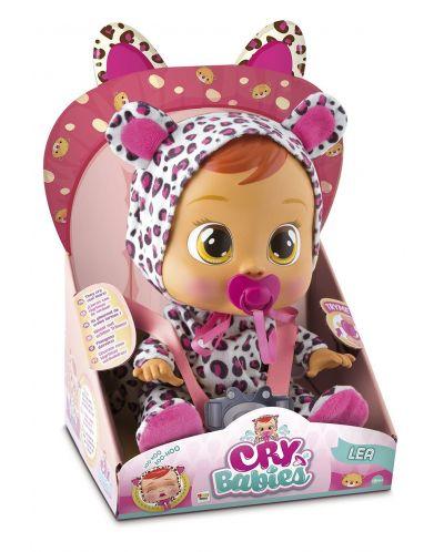 Papusa bebe plangacios IMC Toys Cry Babies, cu lacrimi - Lea - 3