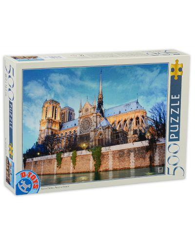 Puzzle D-Toys de 500 piese - Notre Dame, Paris, France - 1