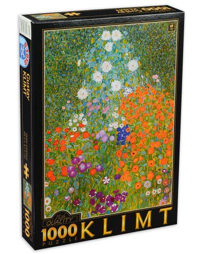 Puzzle D-Toys de 1000 piese - Gustav Klimt, Flower Garden - 1