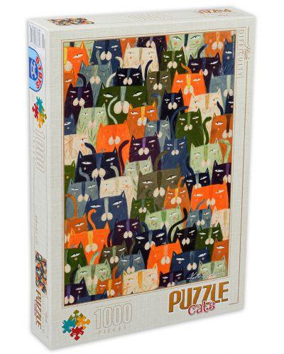 Puzzle D-Toys de 1000 piese - Andrea Kürti, Cats - 1