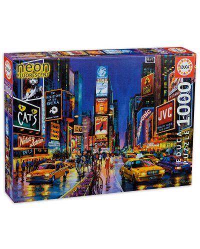 Puzzle neon Educa de 1000 piese - Times Square, New York - 1