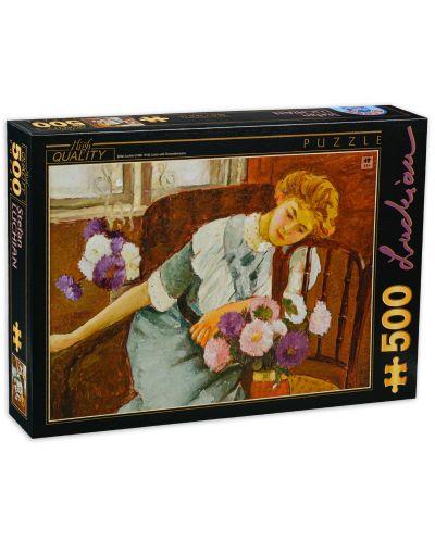 Puzzle D-Toys de 500 piese - Stefan Luchian, Lorica mit Chrysanthemen - 1
