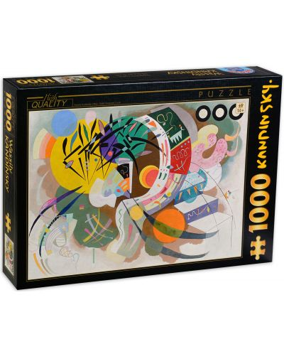 Puzzle D-Toys de 1000 piese - Dominant Cove, Vasili Kandinski - 1