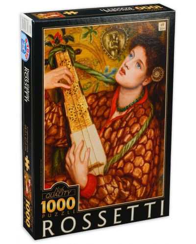 Puzzle  D-Toys de 1000 piese - Cantec de Craciun, Dante Gabriel Rossetti - 1