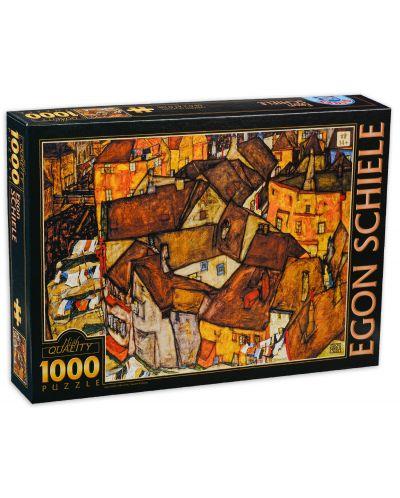 Puzzle  D-Toys de 1000 piese - Micul oras, Egon Schiele - 1