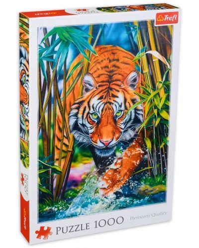 Puzzle Trefl de 1000 piese - Tigrul Pradator  - 1