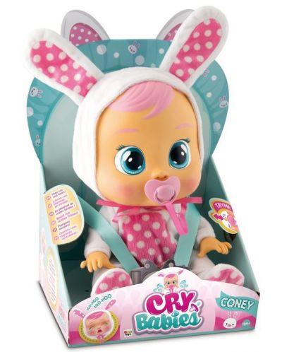Papusa bebe plangacios IMC Toys Cry Babies, cu lacrimi - Coney, iepuras - 3