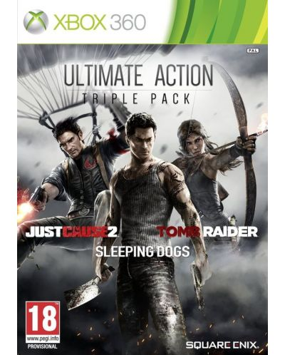 Ultimate Action Pack - Just Cause 2, Sleeping Dogs, Tomb Raider (Xbox 360) - 1