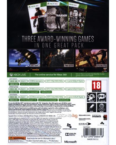 Ultimate Action Pack - Just Cause 2, Sleeping Dogs, Tomb Raider (Xbox 360) - 4
