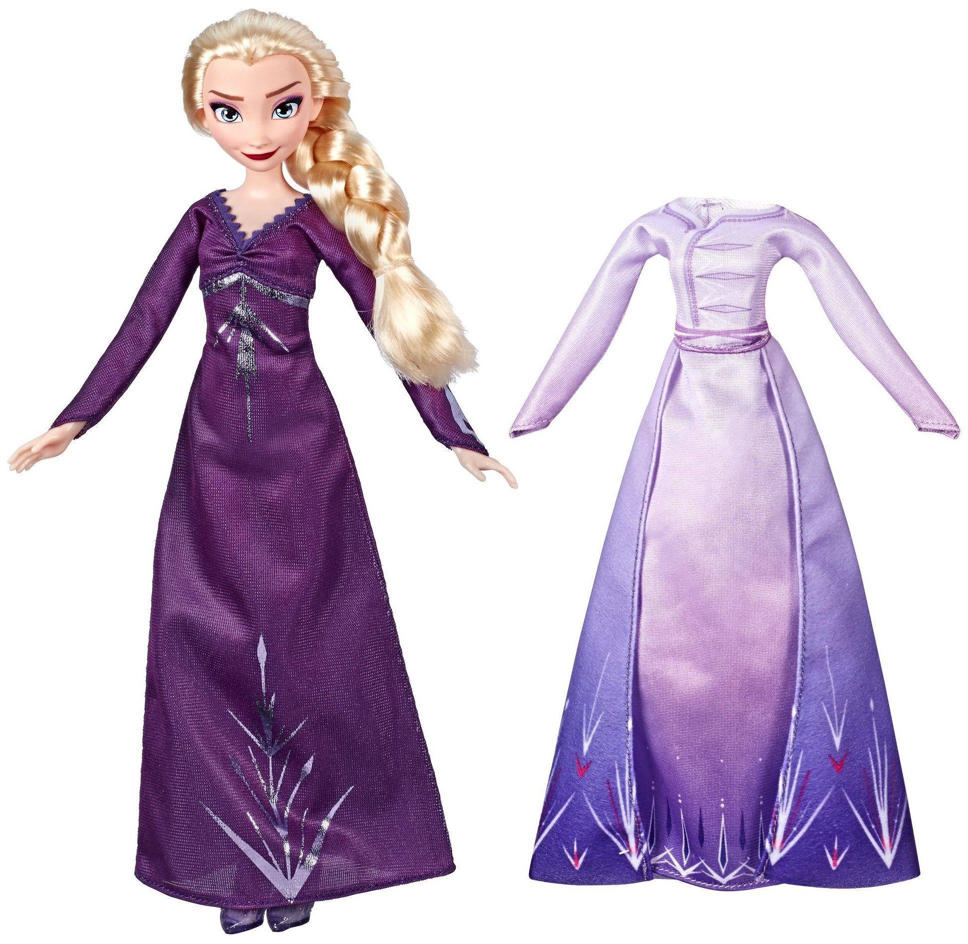 intra online informatii pentru mai multe fotografii Papusa Hasbro Frozen 2 - Elsa din Arendelle, cu 2 rochii | Ozone.ro