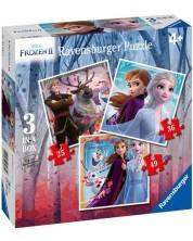 Puzzle Ravensburger 3 в 1 -  Noi aventuri in Regatul de gheata 2