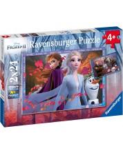 Puzzle Ravensburger din 2 x 24 piese - Aventura in Regatul de gheata 2