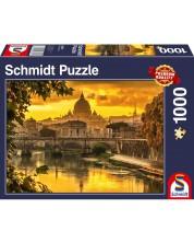 Puzzle Schmidt de 1000 piese- Golden light over Rome