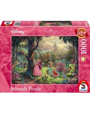 Puzzle Schmidt de 1000 piese - Frumoasa din padurea adormita, Thomas Kinkade