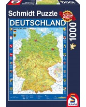 Puzzle Schmidt de 1000 piese - Map of Germany