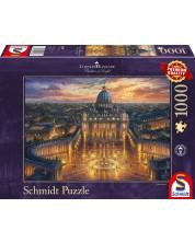 Puzzle Schmidt de 1000 piese - Thomas Kinkade Vatican Sunset