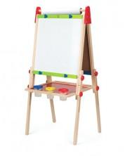 Sevalet pentru copii Hape - Cu tabla magnetica alba si neagra -1